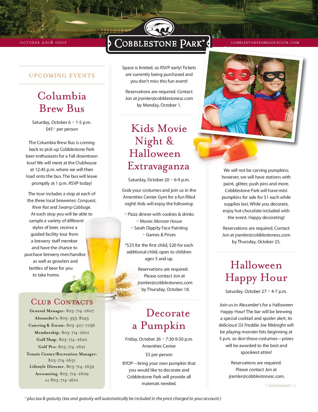 CBP Newsletter October